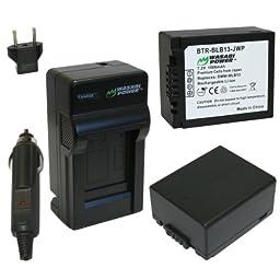 Wasabi Power Battery (2-Pack) and Charger for Panasonic DMW-BLB13, DMW-BLB13E and Panasonic Lumix DMC-G1, DMC-G2, DMC-G10, DMC-GF1, DMC-GH1