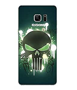 Case Cover Skull Printed Blue Hard Back Cover For Samsung Galaxy Note 7