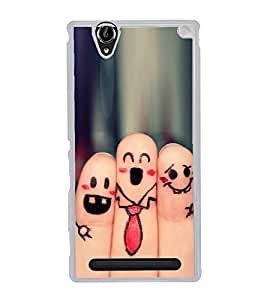 Finger Art 2D Hard Polycarbonate Designer Back Case Cover for Sony Xperia T2 Ultra :: Sony Xperia T2 Ultra Dual SIM D5322 :: Sony Xperia T2 Ultra XM50h