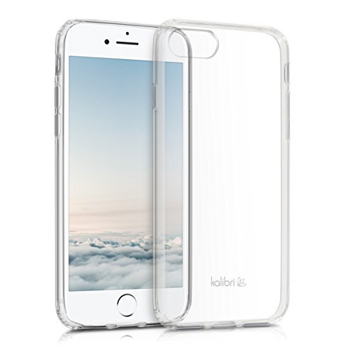 kalibri-Crystal-Case-Hlle-Sunny-fr-Apple-iPhone-7-transparente-Kunststoff-Schutzhlle-mit-TPU-Silikon-Rahmen-in-Transparent