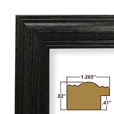 10x23 Custom Picture Frame / Poster Frame 1.265 Wide Complete Black Wood Frame (440BK)