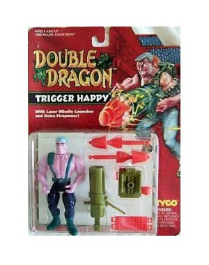 Double Dragon Trigger Happy Action Figure - 1