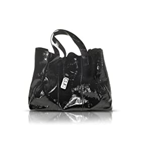 Francesco Biasia Emily - Patent Leather Tote Bag Black