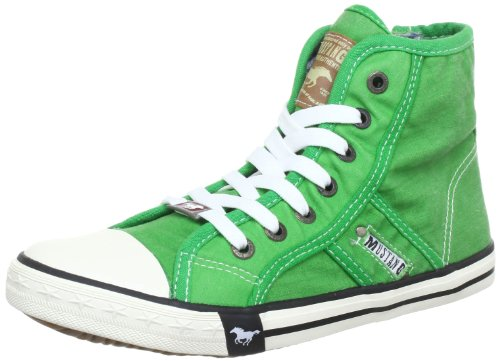 Mustang Damen-Sneaker High Top Women green Grün (grün 7) Size: 4 (37 EU)