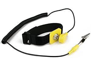 Rosewill RTK-002 Anti-Static Wrist Strap Components Black, Yellow by Rosewill