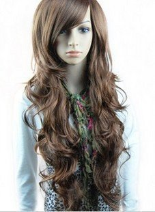 Taobaopit Beautiful Brown Curly Long Hair Wig Human Health