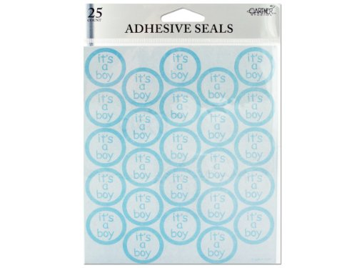 It'S A Boy Adhesive Seals (Case Of 72) front-1009928
