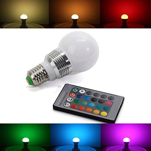 Light-Speed E27 5W RGB LED Birne Farbwechsel Leuchtmittel Lampe Glühbirne Licht mit Fernbedienung - 16 Farben