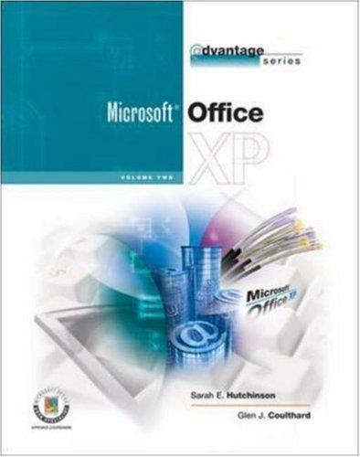 The Advantage Series: Office XP, Vol II