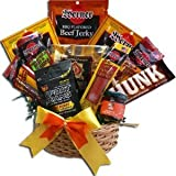 Art of Appreciation Gift Baskets Meat and Snack Attack Gift Basket, Manly Mans