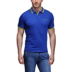 AWG Men's Premium Cotton Polo T-shirt with Embroidery - Royal Blue - FBAAWGTS10l