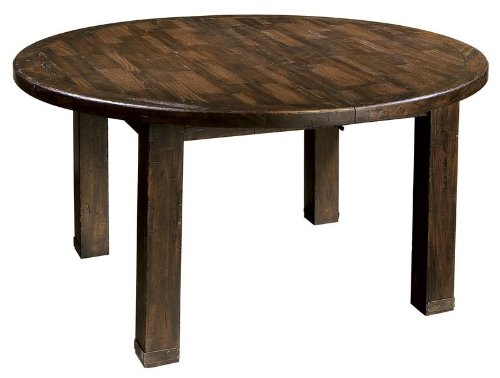 Ty Pennington Round Dining Table with Rustic Hardwood Finish by Howard Miller - 942502RH
