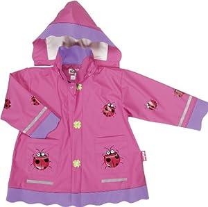Playshoes - Chubasquero con capucha de manga larga para niña