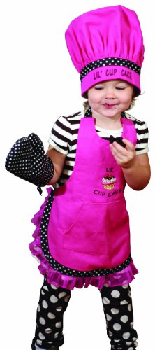 Manual Woodworkers And Weavers Child'S Kitchen Apron, Hat, And Oven Mitt Set Lil' Cupcake front-957616