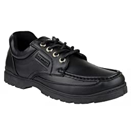 US Brass Stubby 3 Lace Up Shoe / Mens Shoes (10 US) (Black)