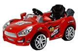 Black Hot Racer Kids Electric Power Ride On Car MP3 & RC Remote Sport Wheels