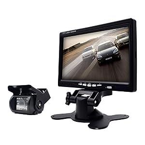 eRapta ER01 Waterproof Backup Camera And Monitor Kits For Semi-Trailer/Box Truck/RV/Motorcoach/5th Wheel/Trailer/Bus PAL And NTSC High Solution Rearview Camera