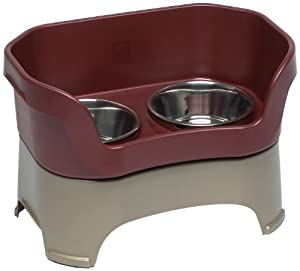 Neater Feeder for Dogs, Dog Bowl, Large, Cranberry