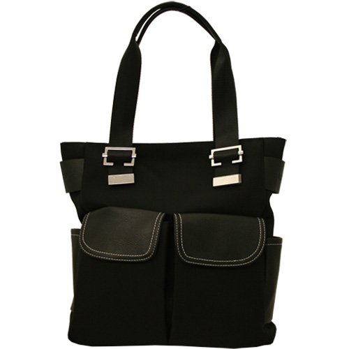 Ladies Hand Shoulder Tote Bag Black
