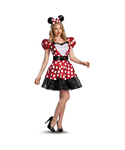 Glam Red Minnie Mouse Womens Costume Plus size