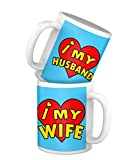 Tied Ribbons I love my Husband I love my Wife Printed Set of 2 Coffee Mug(325 ml)