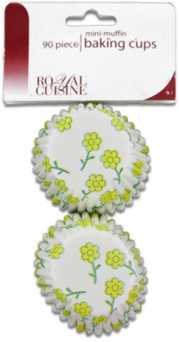 Miniature Baking Cups with Flower Design Case Pack 24