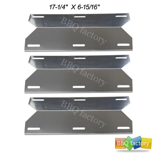 91241(3-Pack) BBQ Replacement Gas Grill Stainless Steel Heat Plate Shield Tent Diffuser Deflector For Charmglow, Costco Kirkland, Nexgrill, Sterling Forge, Lowes Model Grills