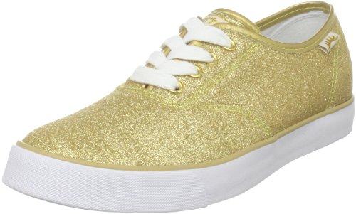 Gotta Flurt Women's Shimmer Fashion Sneaker,Gold Glitter,9 M US