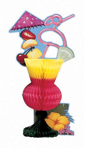 Creative Converting Honeycomb Centerpiece, Luau Tropical Drink