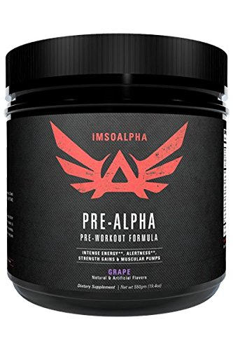 ImSoAlpha Pre-Alpha Preworkout Complex for Energy, Focus, and Pumps - 44 Serving (Grape) (Amino Energy Grape 70 Servings compare prices)