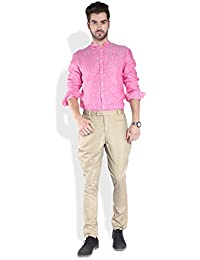 Parx Medium Khaki Men Trouser