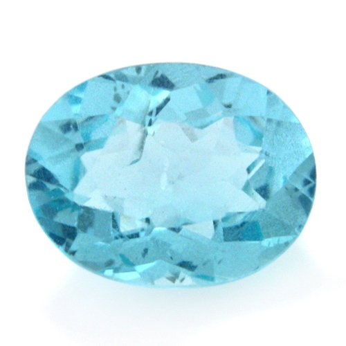 Natural Blue Apatite Loose Gemstone Oval Cut 8*6mm 1.35cts SI Grade Amazing