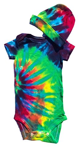 BMD -Gerber Tie Dye Infant Onesie Set by Blue Mountain Dyes, Newborn to 24 Months