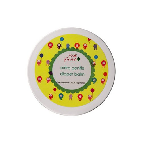 100% Pure Extra Gentle Diaper Balm, 3.4 Ounce