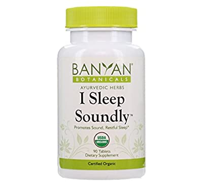 Banyan Botanicals I Sleep Soundly, USDA Organic, 90 Tablets, Non Habit Forming Ayurvedic Herbal Organic Sleep Aid That Promotes Sound Restful Sleep
