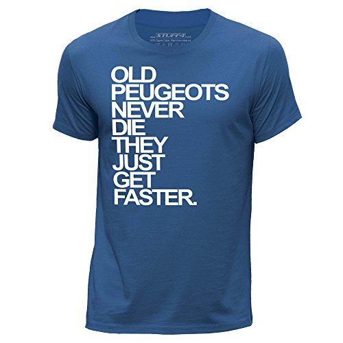 stuff4-herren-x-gross-xl-konigsblau-rundhals-t-shirt-old-peugeots-never-die
