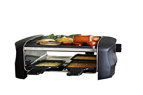 Milliard Raclette Grill for Four People, Includes Reversible Non-Stick Grilling Surface, 4 Paddles and Spatulas - Great for a Family Get Together or Party (Raclette Grill 4 Person compare prices)