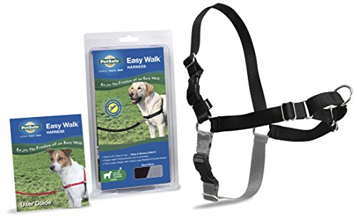 PetSafe Easy Walk Dog Harness, Large, Black/Silver