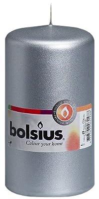 Bolsius Outdoorindoor Pillar Candle 130x70mm - Silver from Ivyline