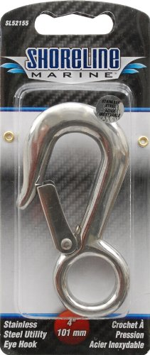 Shoreline Marine Stainless Steel Utility Eye Hook, 4-Inch (316)