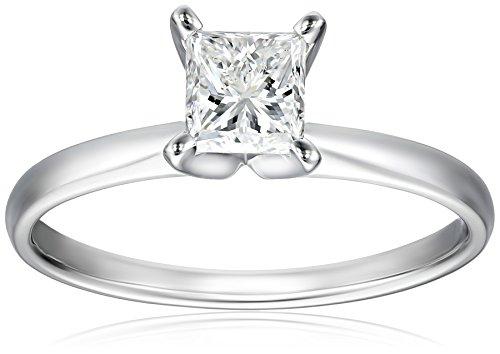 IGI-Certified-18k-White-Gold-Classic-Princess-Cut-Diamond-Engagement-Ring-10-carat-H-I-Color-SI1-SI2-Clarity