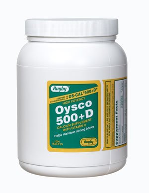 Oysco 500+D 1000 Tablets Rugby Lab
