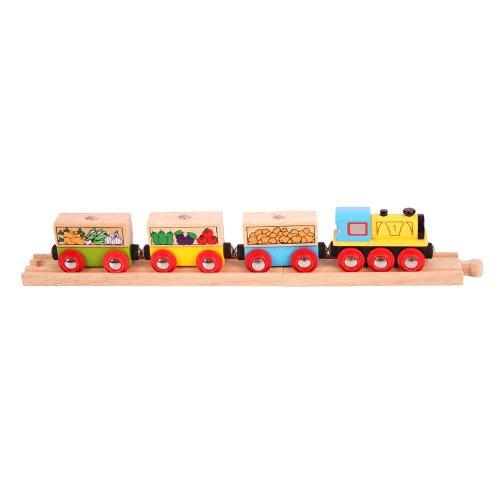 Bigjigs Rail Bjt180 Fruit And Veg Train