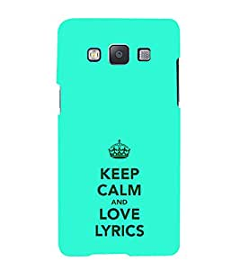 iFasho Nice Quote On Keep Calm Back Case Cover for Samsung Galaxy A5