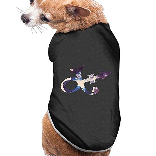 [Caxlorb PPrince Purple Rain Guitar Symbol 80s Fashion Puppy Tank Top S Black] (80s Singers Costumes)