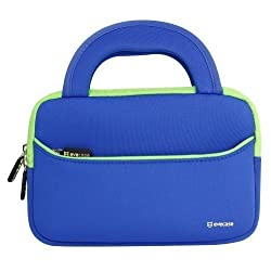7 - 8 inch Tablet Sleeve, Evecase® 7 ~ 8 inch Tablet Ultra-Portable Neoprene Zipper Carrying Sleeve Case Bag with Accessory Pocket - Blue/Green