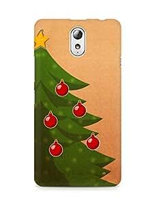 Amez designer printed 3d premium high quality back case cover for Lenovo Vibe P1M (Christmas Tree 3)