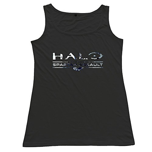 ZhiXiong Women's Cotton Halo The Master Chief Collection Tank Top Tee Shirts (Halo Master Chief Collectors Edition)
