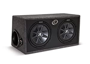 Kicker 10DCVR102 Dual 10 inch. Ported Comp VR Loaded Subwoofer Enclosure Box with 2 ohm Final Impedance (Kicker DCVR102)
