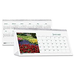 Garden Photos Desk Tent Monthly Calendar, 8-1/2 x 4-1/2, 2012